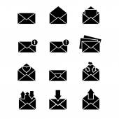 Vector simple designed message icons set — Stock Vector