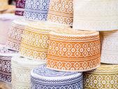Muslim hats called taqiyah — Stock Photo