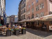 Architecture in the Old Town of Riga — Stok fotoğraf