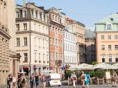 Dome square in the Old Town of Riga, Latvia. — Stock Photo