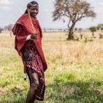Maasai warrior in Mikumi, Tanzania. — Stock Photo #58425625