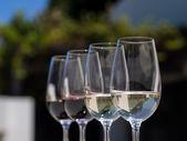 Bicchieri di vino al vino — Foto Stock