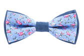 Summer flower print bow tie isolated on white background — Stockfoto