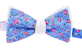 Summer flower print bow tie isolated on white background — Stock Photo