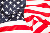 The greatness of America. Red white flag with the stars — Stock Photo