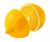 Lemon cut in half — Stock Photo