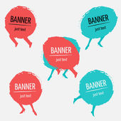 Banner frames with legs — Stock Vector