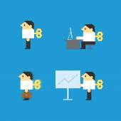 Businessman wind up — Stock Vector