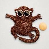 Tarsier with cookie. — Stock Photo