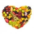 Healthy fruity heart. — Foto Stock #75669503
