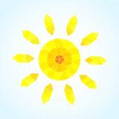 Abstract segmented sun, vector pattern — Stock Vector