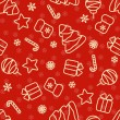 Seamless red Christmas hand drawn pattern — Stock Vector #58782973