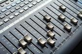 Professional audio mixing console. Recording studio equipment. — Stock Photo