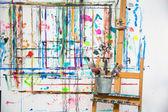 Painter's atelier — Stock Photo