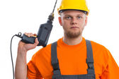 Constructor with drill — Foto de Stock