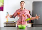 Almighty cooking magician — Stock Photo
