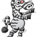 Постер, плакат: Cool stripped zebra
