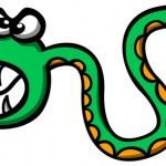 Постер, плакат: Scary green snake