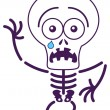 Skeleton in fearful mood — Stock Vector #55156221