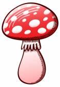 Voar o cogumelo amanita — Vetorial Stock