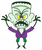 Frankenstein in a very threatening mood — Stock Vector