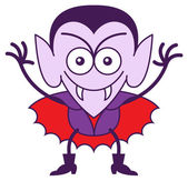 Funny vampire showing a mischievous mood — Stock Vector