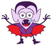 Cute vampire crying — Stock Vector