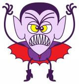 Angry vampire — Stock Vector