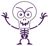 Skeleton in mischievous mood — Stock Vector