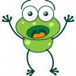 Frog in a very surprised mood — Stock Vector #61123299