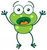 Frog in a very surprised mood — Stock Vector