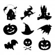 Set of halloween icons — Stock Vector #70825805