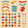 Set of different shapes ribbons — Stock Vector #70828957