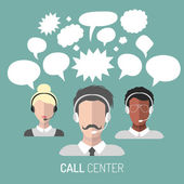 Set of call center — Stock Vector