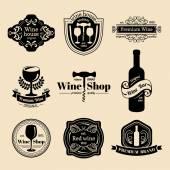Set of vintage wine logo — Stock Vector