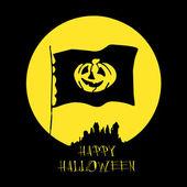 Halloween card with dark castle — Stock Vector