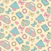 Cute morning seamless pattern — Stock Vector