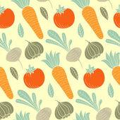 Красочных овощных бесшовный фон — Cтоковый вектор
