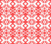 Knitted christmas seamless pattern — Stock Vector
