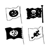 Set of Halloween flags — Vector de stock
