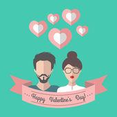 Vakantie Valentijnsdag kaart — Stockvector