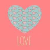 Valentine greeting printed love card — Stock Vector