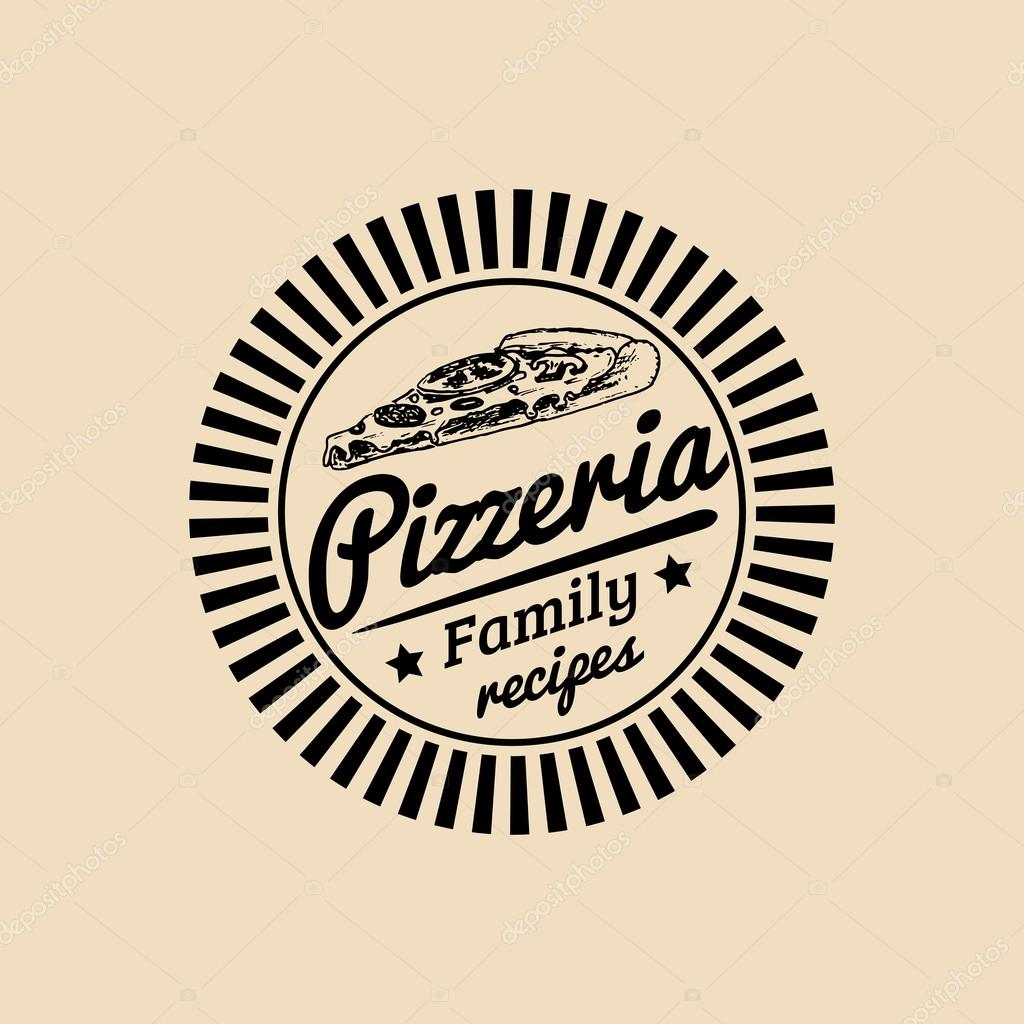 Logo de la cuisine italienne Vintage hipster — Image vectorielle