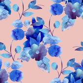 Blue flower pattern — Stock Photo