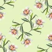 Orchid flower pattern — Stock Photo