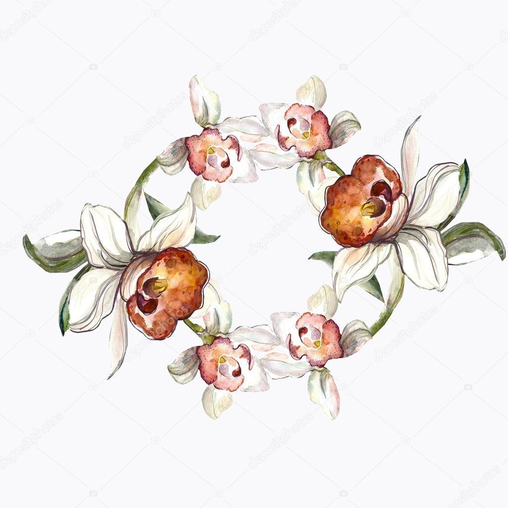Dessin de fleurs d 39 orchid es photographie svemar 58703303 - Dessin d orchidee ...