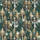 Green  forest  pattern — Stock Photo