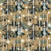 Green and brown  forest  pattern — Stock Photo