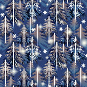 Blue   forest  pattern — Stock Photo