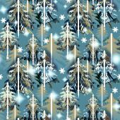 Blue abd green   forest  pattern — Stock Photo
